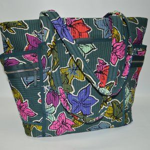VERA BRADLEY Iconic Deluxe Tote In Falling Flowers
